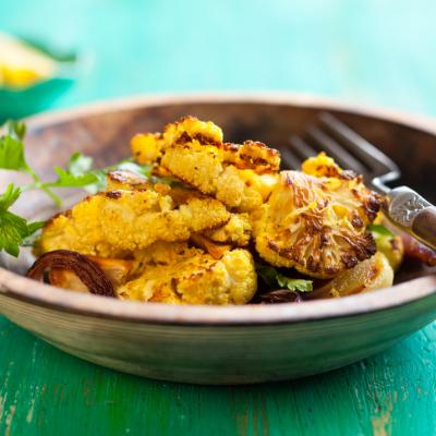 Sweet & Spicy Roasted Cauliflower