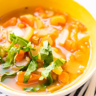 Easy Sweet Potato Lentil Soup