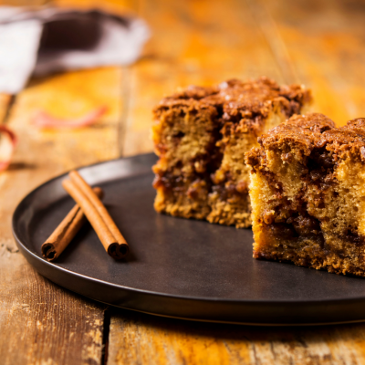 Healthy Cinnamon Scented Coffee Cake