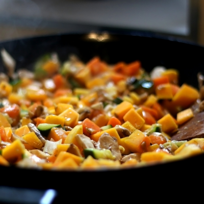 fundamental5 Asian Chicken Stir fry with Mustard Ginger Sauce
