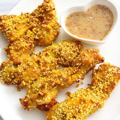 Turmeric and Sesame Chicken Tenders from Prima Foodie